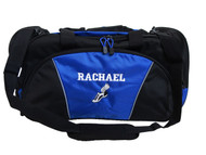 Cross Country XC Winged Track Shoe Running Personalized Embroidered ROYAL BLUE DUFFEL Font Style VARSITY