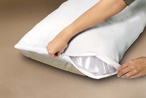 CliniSafe Pro Pillow Protector - Antimicrobial, Allergy, Waterproof and Stain Protection for Pillows