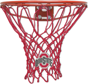 The Ohio State University Red Basketball Net