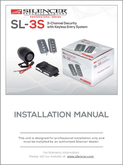 Silencer SL-3S | Installation Manual - Full Version