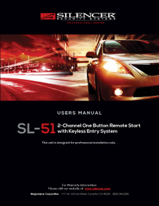 Silencer SL-51 | Users Manual - Full Version