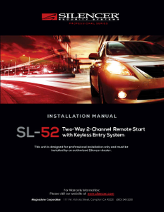 Silencer SL-52 | Installation Manual - Full Version