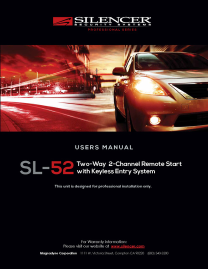 Silencer SL-52 | User's Manual - Full Version