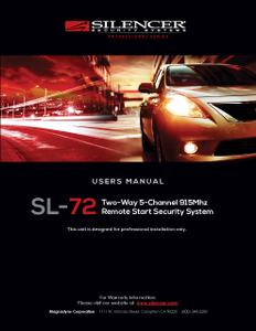Silencer SL-72 | Users Manual - Full Version