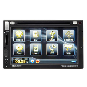 Magnadyne M3-LCD | High Power AM/FM/WB/DVD/BT High Power Bluetooth Receiver - Front View