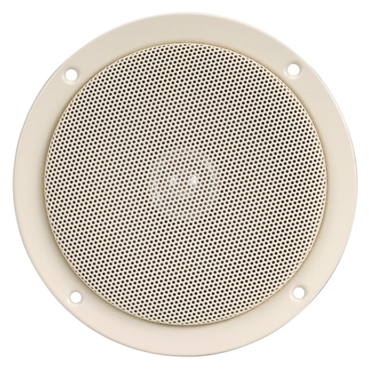"Magnadyne AS505WG | 5"" Dual Cone Slimline Speaker (Cream) - Front View"