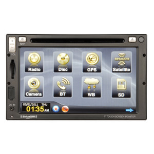 Magnadyne M4-LCD | High Power AM/FM/WB/DVD/BT Bluetooth Receiver Built-in Navigation Refurbished - Front View