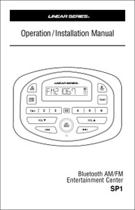 Linear Series SP1 | Operation/Installation Manual