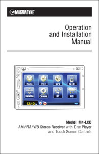 Magnadyne M4-LCD | Operation & Installation Manual