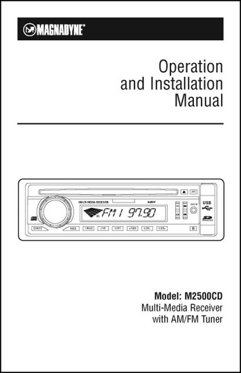 Magnadyne M2500CD | User's Manual