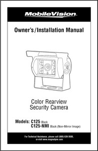 MobileVision C125 | Owner's / Installation Manual