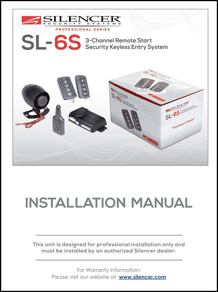 silencer sl 6s installation manual