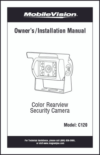 MobileVision C120 | Owner's/Installation Manual