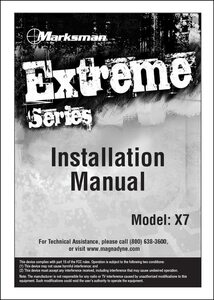 Marksman X7 | Installation Manual