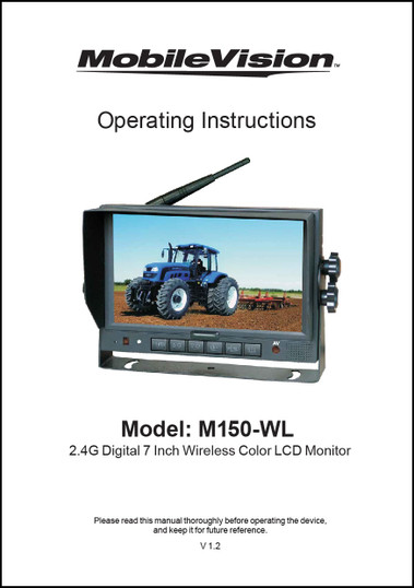 MobileVision M150-WL   Operating Instructions