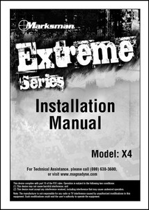 Marksman X4 | Installation Manual