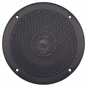 "AquaVibe WR45B | Marine Waterproof 5"" Dual Cone Speaker (Black) - Front View"