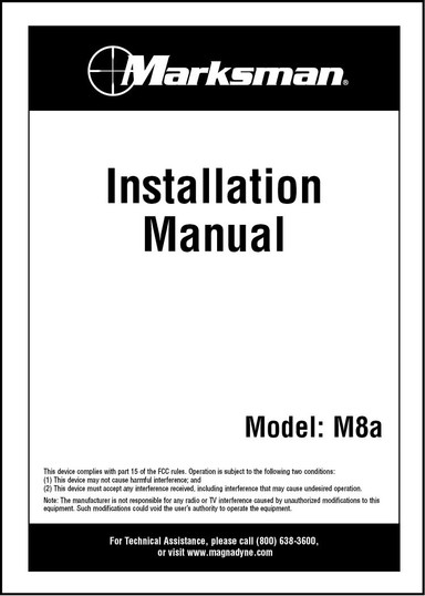 Marksman M8A | Installation Manual