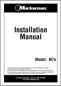 Marksman M7A | Installation Manual