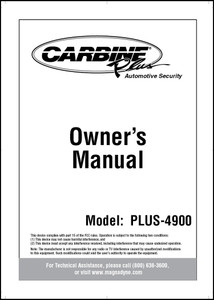 Carbine Plus-4900 | Owner's Manual