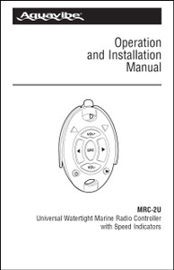 Aquavibe MRC-2U | Operation and Installation Manual