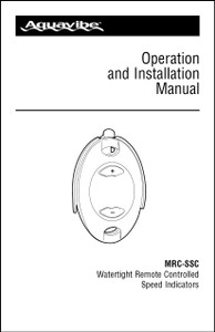 Aquavibe MRC-SSC | Operation and Installation Manual