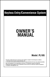 Carbine PL10S | Owner's Manual