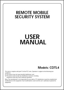 Magnadyne CDTL4 | User Manual