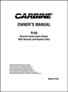 Carbine PL80 | Owner's Manual