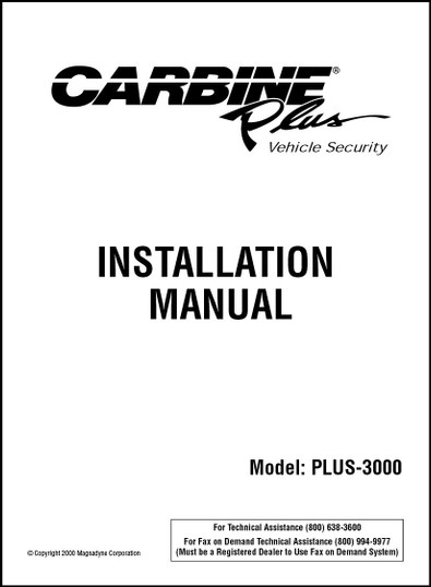 Carbine PLUS 3000 |Installation Manual