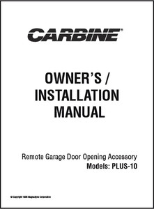 Carbine PLUS 10 | Owner's/Installation Manual