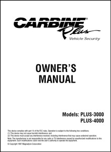 Carbine PLUS-3000/PLUS-4000 | Owner's Manual