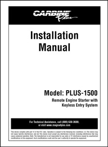 Carbine PLUS-1500 | Installation Manual
