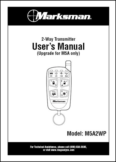 Marksman M5A2WP | User's Manual