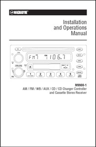 Magnadyne M9900-1 | Installation and Operation Manual