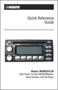 Magnadyne M9900CDS-QR | Quick Reference Guide