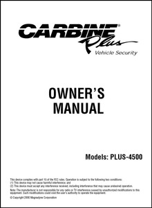 Carbine PLUS-4500 | Owner's Manual