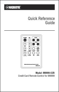 Magnadyne M9999-CCR | Quick Reference Guide