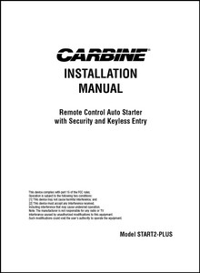Carbine START2-PLUS | Installation Manual