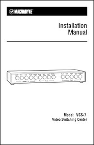 Magnadyne VCS-7 / Installation Manual