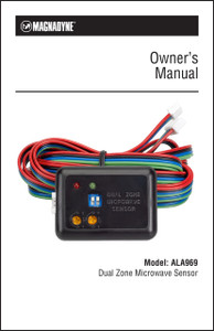 Magnadyne ALA969 | Dual Zone Microwave Sensor Owner's Manual