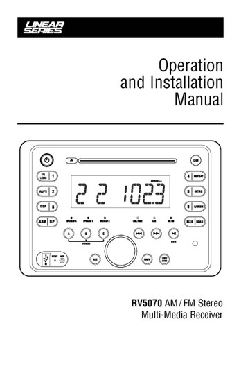 Linear Series RV5070 | Operation & Installation Manual
