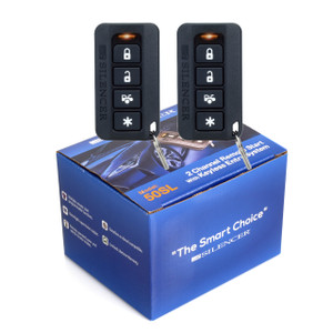 Silencer 50SL | One-Way Remote Starter and Keyless Entry System - Packaging & Remotes