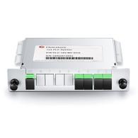 PLC Fiber Splitter, Mini Plug-in Type fits Fiber Optic Outdoor Terminal Distribution Box FOOTDBOX