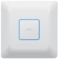 The fastest UniFi model supports 802.11ac and speeds of up to 1300 Mbps in the 5 GHz radio band and up to 450 Mbps in the 2.4 GHz radio band. The UAP-AC offers simultaneous dual-band operation with 3x3 MIMO technology for each band. It has a range of up to 122 m (400 ft) and two Gigabit Ethernet ports.