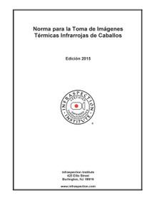Norma para la Toma de Imágenes Térmicas Infrarrojas de Caballos - 2015 Edición