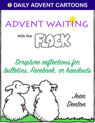 [Advent & Christmas eResources] Advent Waiting...with the Flock (eResource): Cartoons and Reflections for bulletins, Facebook, or handouts