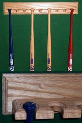 BASEBALL BAT RACKS, Mini 10 Bat  display  MBC 410