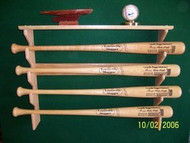 BASEBALL BAT RACK, Gun Style Four Bat Rack with nice top shelf FF 204