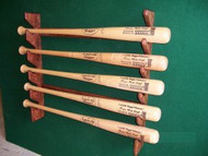 BASEBALL BAT RACKS, Five Bat Gun Style Wall Mount  DD 205,Village Wood Shoppe